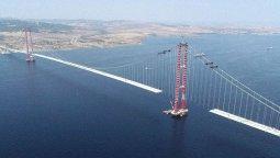 1915 Çanakkale Köprüsü inşaatı havadan görüntülendi!