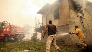 Antalya Akseki'de bir mahalledeki evlerin %80'i yandı