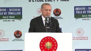 Başkan Erdoğan, İyidere-İkizdere tünellerinin açılışını yaptı