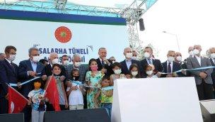 Cumhurbaşkanı Erdoğan, Salarha Tüneli'nin açılışı yaptı