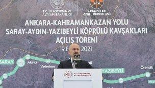 Ankara-Kahramankazan Yolu'nda 3 kavşak hizmete açıldı