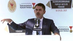 Bakan Kurum, Kahramanmaraş'ta konuştu