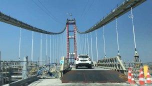 1915 Çanakkale Köprüsü üzerinde inşaat tüm hızıyla sürüyor!