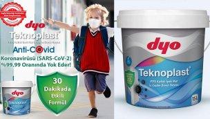 DYO Teknoplast koronavirüse karşı 30 dakikada etkili!