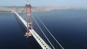 1915 Çanakkale Köprüsü'nün tabliye montajları tamamlanmak üzere!