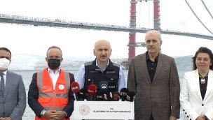 """""""Köprünün çalışmaları devam ederken, yol çalışmalarına da devam ediyoruz"""""""