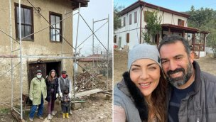Burcu Kara köy evini yeniledi!