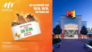 M1Konya AVM'den alışverişi lezzet ile birleştiren kampanya!