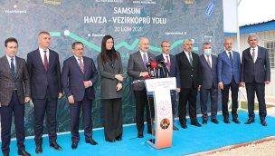 Bakan Karaismailoğlu, Havza-Vezirköprü kara yolunu inceledi