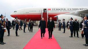 Cumhurbaşkanı Erdoğan, Fuzuli Havalimanı'nın açılışını yaptı