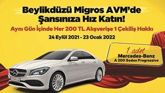 Beylikdüzü Migros AVM'de Mercedes kazanma şansı!