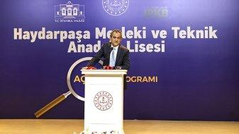 Depreme karşı güçlendirilen Haydarpaşa Mesleki ve Teknik Anadolu Lisesi açıldı