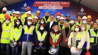 Kaynarca-Pendik-Tuzla Metro Hattı 2. TBM çıkış töreni yapıldı