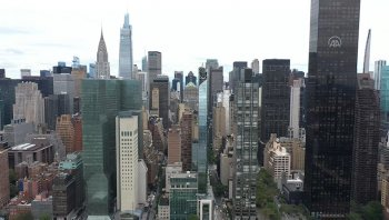 New York'da açılışı yapılan Türkevi havadan görüntülendi!