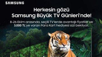 """Samsung'un """"Büyük TV Günleri"""" kampanyası başlıyor!"""