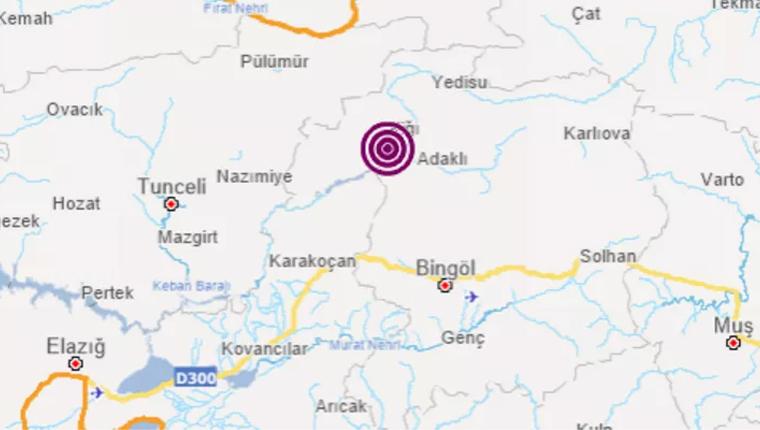 Bingöl'de 4.3 büyüklüğünde deprem!