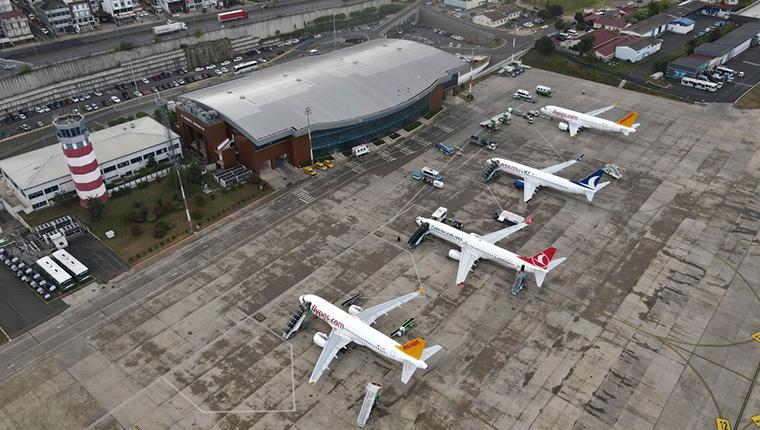 Trabzon Havalimanı, 2 günde 265 uçuşla rekor kırdı!