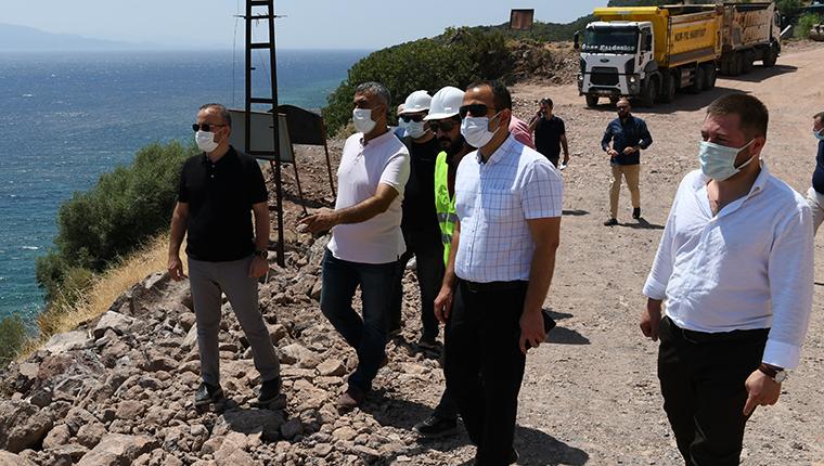 Assos'ta kaya ıslahı çalışmaları devam ediyor