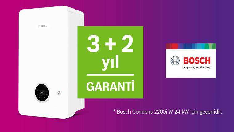 Bosch kombilerde kaçırılmayacak ek garanti kampanyası!
