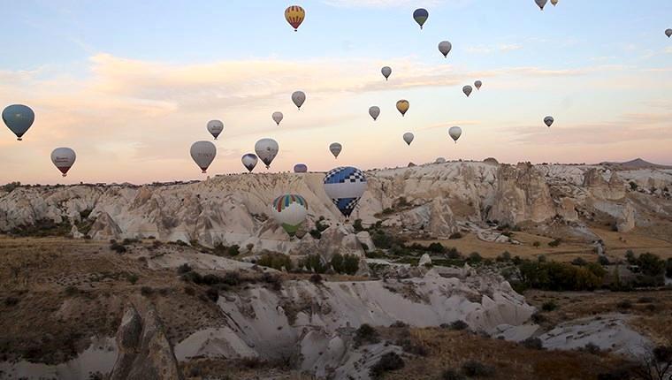 Kapadokya'yı haziranda 150 bin 282 turist ziyaret etti