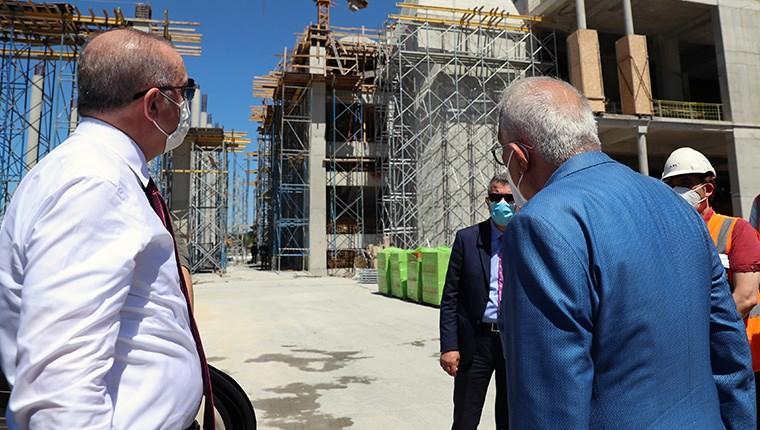 Başkan Erdoğan, Barbaros Hayrettin Paşa Camisi inşaatını inceledi