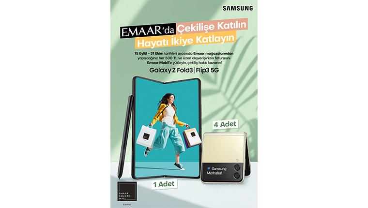 Emaar AVM'deki alışverişlerinize Galaxy Z Fold3 5G kazanma şansı